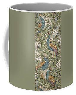Peacock Garden Wallpaper Coffee Mug