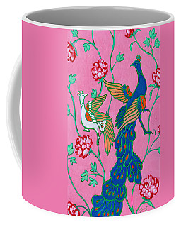 Peacocks Flying Southeast Coffee Mug by Xueling Zou