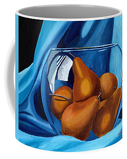 Coffee Mug featuring the painting Pear Anyone by Laura Forde