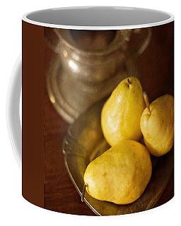 Pears And Great Grandpa's Silver Coffee Mug