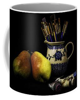 Pears And Paints Still Life Coffee Mug