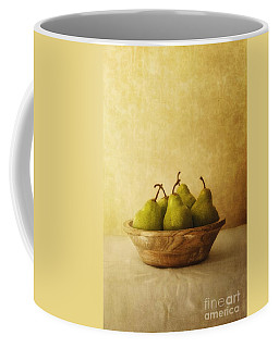 Pears In A Wooden Bowl Coffee Mug