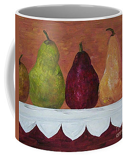 Coffee Mug featuring the painting Pears On Parade   by Eloise Schneider