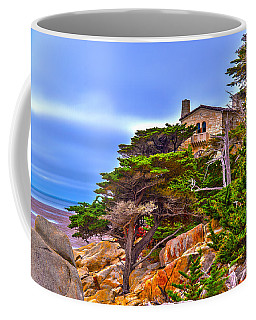Pebble Beach Ca Coffee Mug by Richard J Cassato