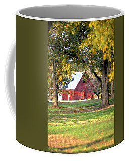 Coffee Mug featuring the photograph Pecan Orchard Barn by Gordon Elwell