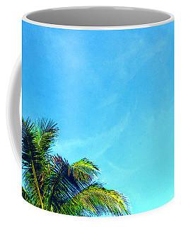 Peekaboo Palm - Tropical Art By Sharon Cummings Coffee Mug
