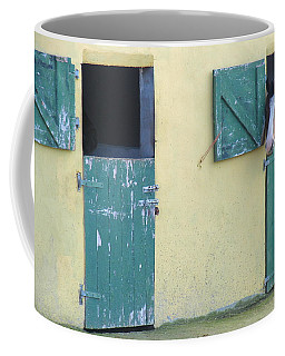 Coffee Mug featuring the photograph Peekaboo by Suzanne Oesterling