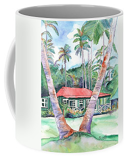 Peeking Between The Palm Trees 2 Coffee Mug