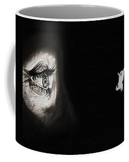 Peeping Tom - Psycho Coffee Mug by Fred Larucci