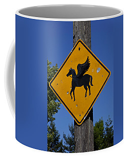 Pegasus Road Sign Coffee Mug
