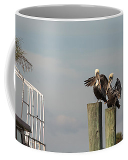 Coffee Mug featuring the photograph Pelican Buddies by John M Bailey
