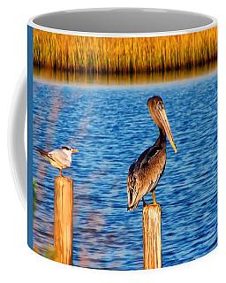 Pelican On A Pole Coffee Mug
