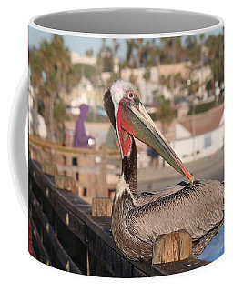 Pelican Sitting On Pier  Coffee Mug