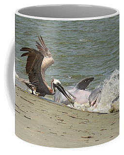 Pelican Steals The Fish Coffee Mug