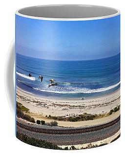 Pelicans And Rider Coffee Mug
