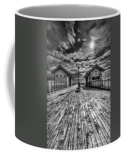 Penarth Pier 2 Monochrome Coffee Mug