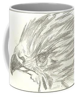Pencil Drawing Of Hawk Eye Coffee Mug