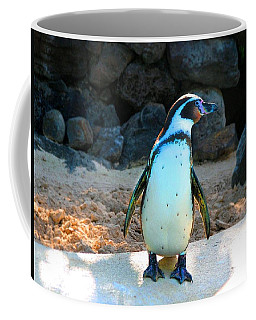 Coffee Mug featuring the photograph Penguin by Kristine Merc