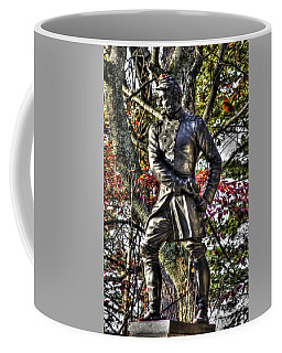Coffee Mug featuring the photograph Pennsylvania At Gettysburg - Col Strong Vincent 83rd Pa Volunteer Infantry Close-3 Little Round Top by Michael Mazaika