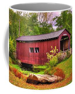 Pennsylvania Country Roads - Everhart Covered Bridge At Fort Hunter - Harrisburg Dauphin County Coffee Mug