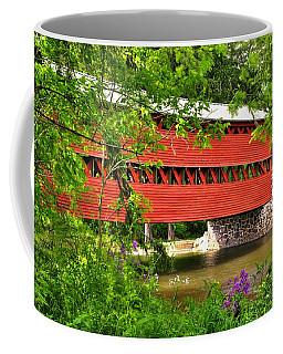 Pennsylvania Country Roads - Sachs Covered Bridge Over Marsh Creek-3b - Shade Of Spring Adams County Coffee Mug