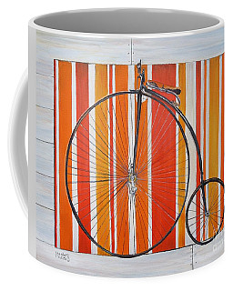 Penny-farthing Coffee Mug by Marilyn  McNish