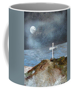 Coffee Mug featuring the painting Pensacola Beach By The Light Of The Moon by Eloise Schneider
