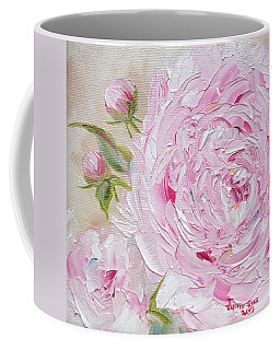 Coffee Mug featuring the painting Peony by Judith Rhue