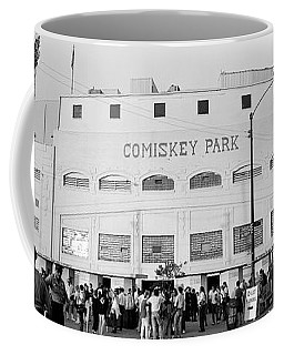 People Outside A Baseball Park, Old Coffee Mug