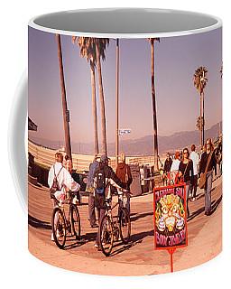 People Walking On The Sidewalk, Venice Coffee Mug