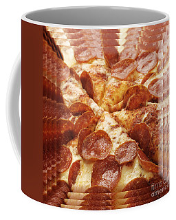 Pepperoni Pizza 25 Pyramid Coffee Mug