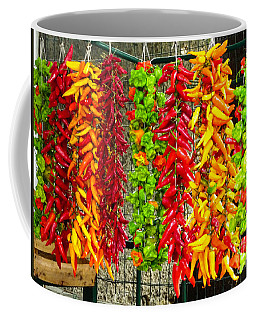 Coffee Mug featuring the photograph Peppers For Sale by Mike Ste Marie