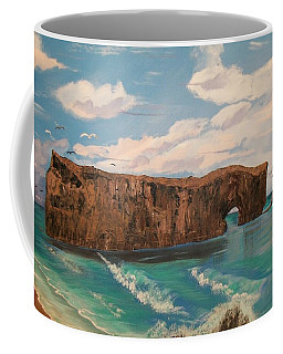 Coffee Mug featuring the painting Perce Rock by Sharon Duguay