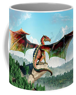 Perched Dragon Coffee Mug