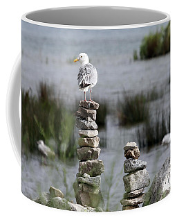 Perched On A Rock Cairn Coffee Mug