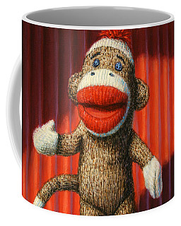 Performing Sock Monkey Coffee Mug
