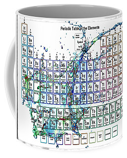 Periodic Table Colorful Liquid Splash Coffee Mug by Eti Reid