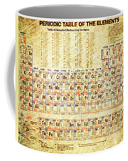 Periodic Table Of The Elements Vintage White Frame Coffee Mug by Eti Reid