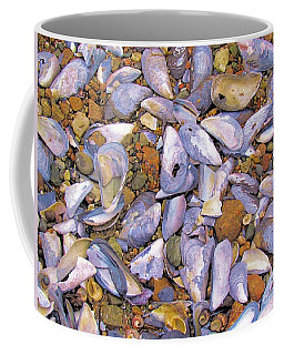 Periwinkles Muscles And Clams Coffee Mug by Elizabeth Dow