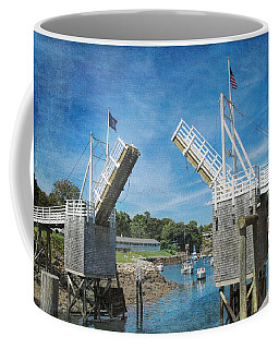 Perkins Cove Drawbridge Textured Coffee Mug