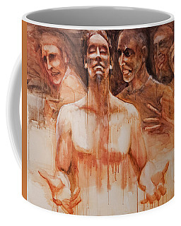 Coffee Mug featuring the painting Persecution by Jani Freimann