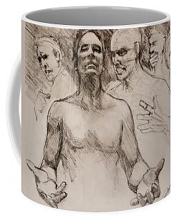 Persecution Sketch Coffee Mug by Jani Freimann