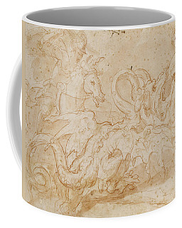 Perseus Rescuing Andromeda Red Chalk On Paper Coffee Mug