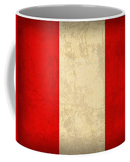 Peru Flag Vintage Distressed Finish Coffee Mug