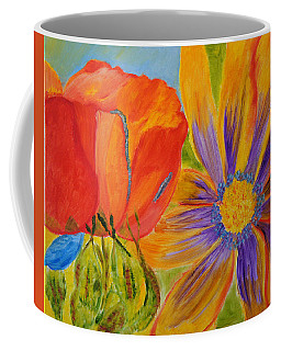 Petals Up Close Coffee Mug by Meryl Goudey