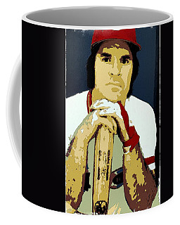 Pete Rose Poster Art Coffee Mug