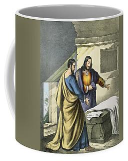 Peter And John At The Sepulchre Coffee Mug