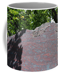 Petrified Wood On Display Coffee Mug
