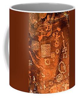 Petroglyph Symbols Coffee Mug by Phyllis Denton