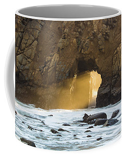 Coffee Mug featuring the photograph Pfeiffer At Sunset by Suzanne Luft